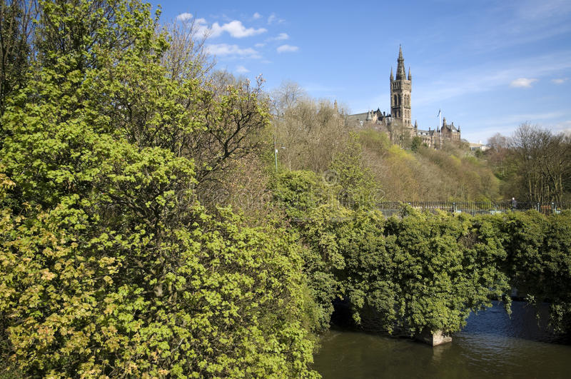 Glasgow-Hochschulkontrollturm stockbild