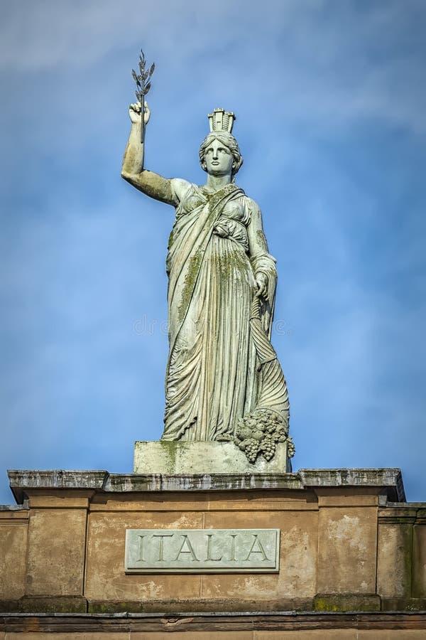 Glasgow Italia Statue fotografía de archivo