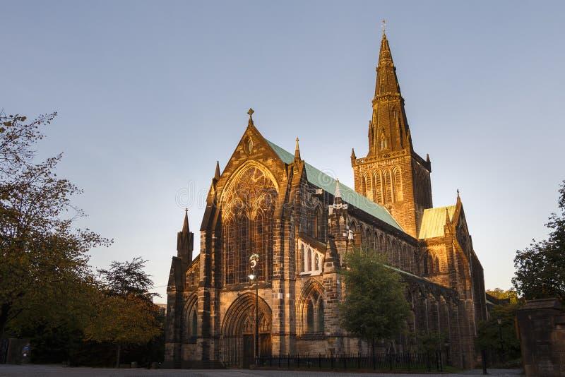 Glasgow katedra przy półmrokiem fotografia stock