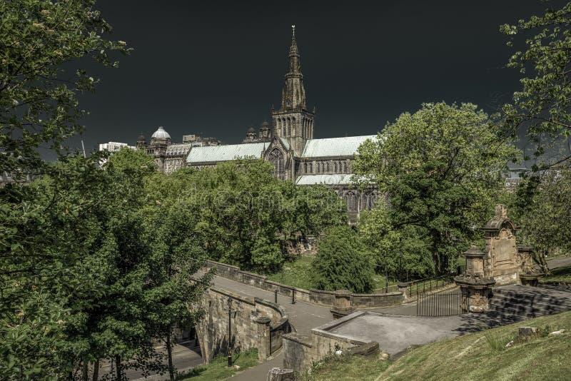 Glasgow-Kathedrale, Schottland stockbild