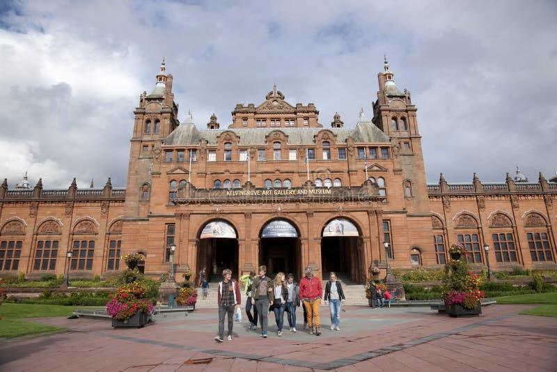 Glasgow, l'Ecosse, le 8 septembre 2013, le Kelvingrove Art Gallery et mus?e pr?s de parc de Kelvingrove, Argyle Street photos stock