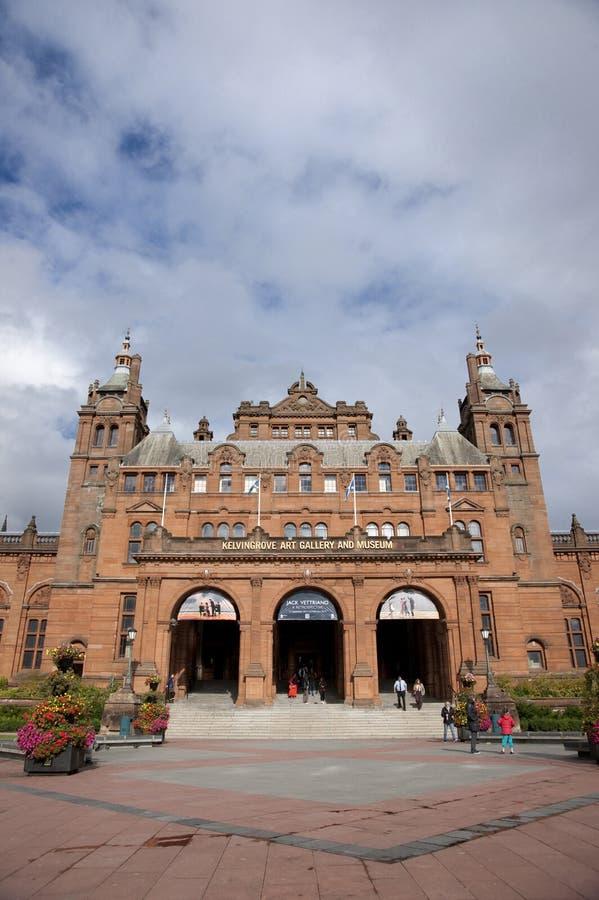Glasgow, l'Ecosse, le 8 septembre 2013, le Kelvingrove Art Gallery et mus?e pr?s de parc de Kelvingrove, Argyle Street image stock