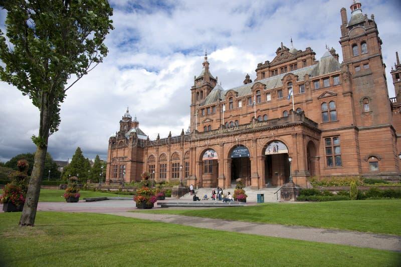 Glasgow, l'Ecosse, le 8 septembre 2013, le Kelvingrove Art Gallery et mus?e pr?s de parc de Kelvingrove, Argyle Street photos libres de droits