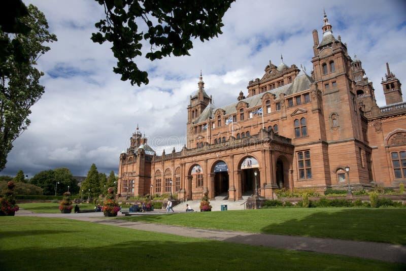Glasgow, la Scozia, l'8 settembre 2013, il Kelvingrove Art Gallery e museo vicino al parco di Kelvingrove, Argyle Street fotografia stock libera da diritti