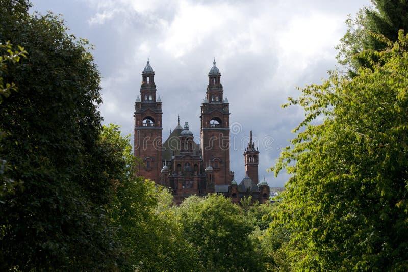 Glasgow, la Scozia, l'8 settembre 2013, il Kelvingrove Art Gallery e museo vicino al parco di Kelvingrove, Argyle Street immagine stock