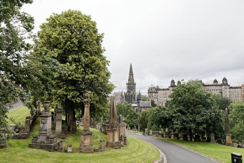 Glasgow Necropolis, Escócia imagens de stock