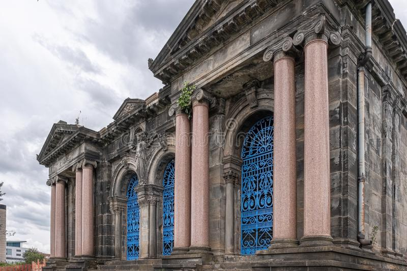 Glasgow Necropolis jest Wiktoriańskim cmentarzem w Glasgow i jest wybitnym cechą w centrum miasta Glasgow obrazy royalty free