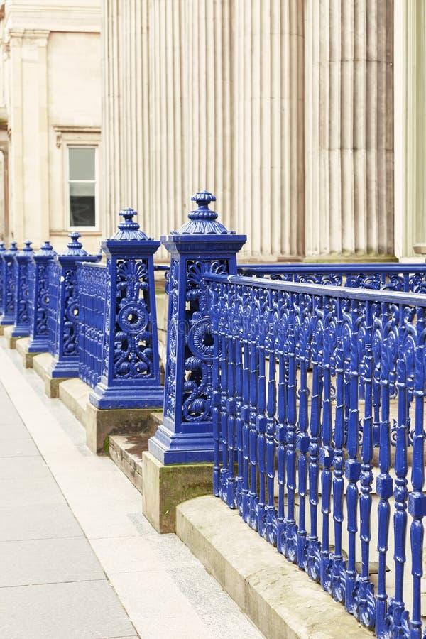 Glasgow obsady żelaza ogrodzenie fotografia stock