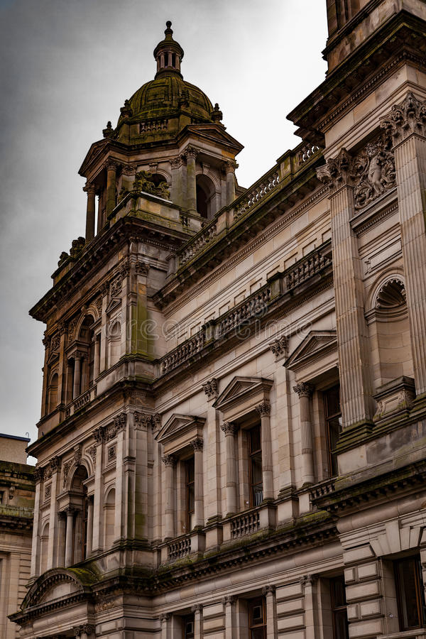 Glasgow old buildings. Image of old buildings in the city of Glasgow, Scotland stock photography