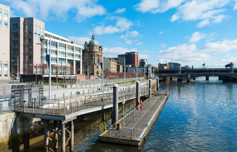 Glasgow Riverside image libre de droits