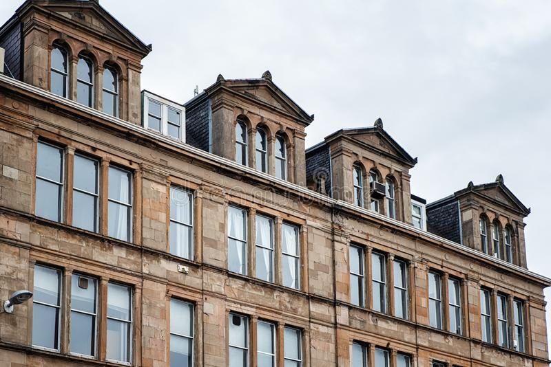 Glasgow Roof Dormers immagini stock