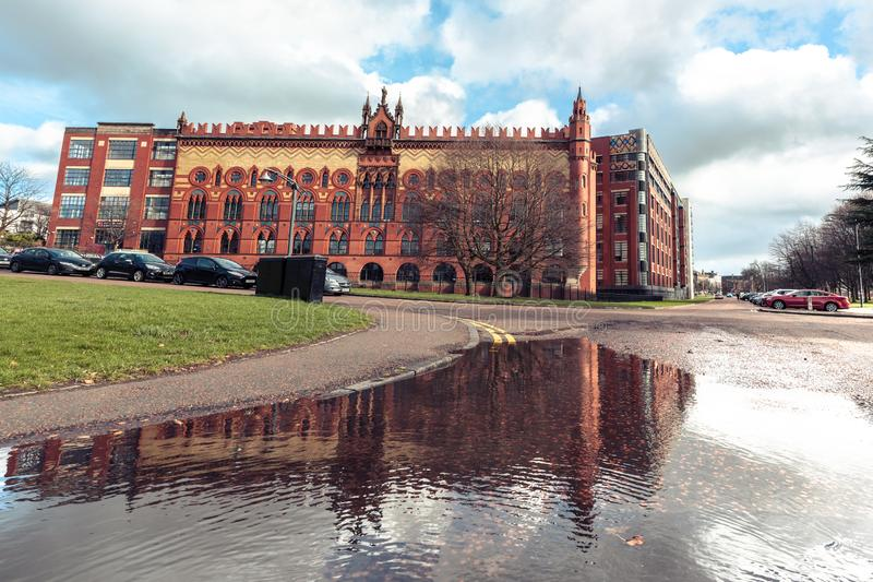 Glasgow`s historic Templeton Carpet Factory Building in Glasgow. Scotland royalty free stock images