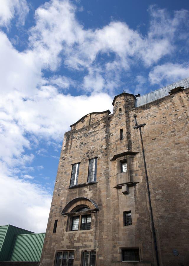 Glasgow, Schottland, Gro?britannien im September 2013 Charles Rennie Mackintoshs Glasgow School der Kunst vor dem verh?ngnisvolle stockbilder