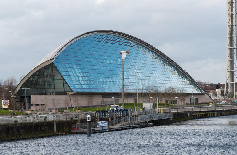 Glasgow Science Centre royaltyfria bilder
