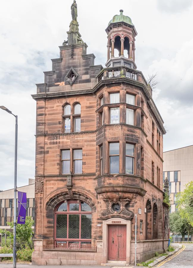 The Old Glasgow Civic Room Art Gallery. Impressive Architecture from Glasgows past royalty free stock images