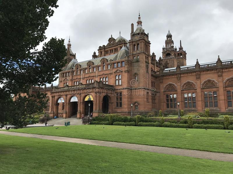 GLASGOW, SCOTLAND/UNITED KINGDOM - AUGUST 11, 2017: The Kelvingrove Art Gallery and Museum in Glasgow, Scotland, United Kingdom royalty free stock photo