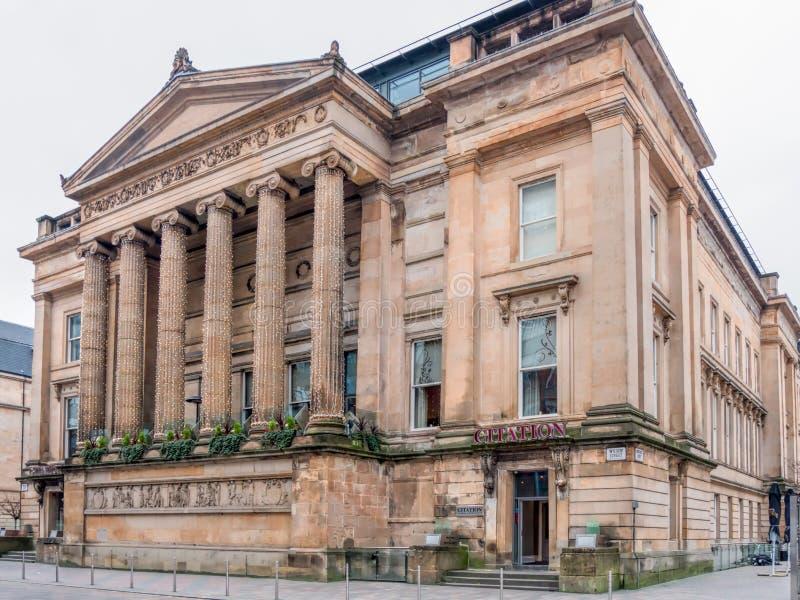 Glasgow Sheriff Court e justiça anteriores da corte da paz imagens de stock