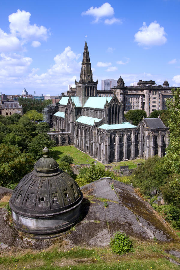 Glasgow St Mungo's Cathedral and Necropolis stock images