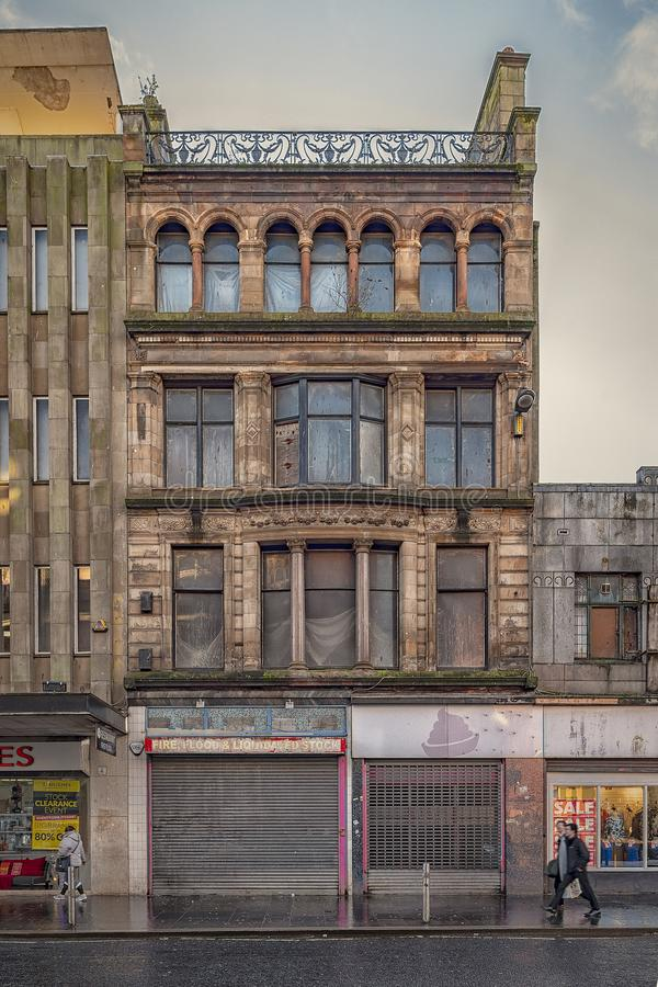 Glasgow Street Facade fotos de archivo libres de regalías