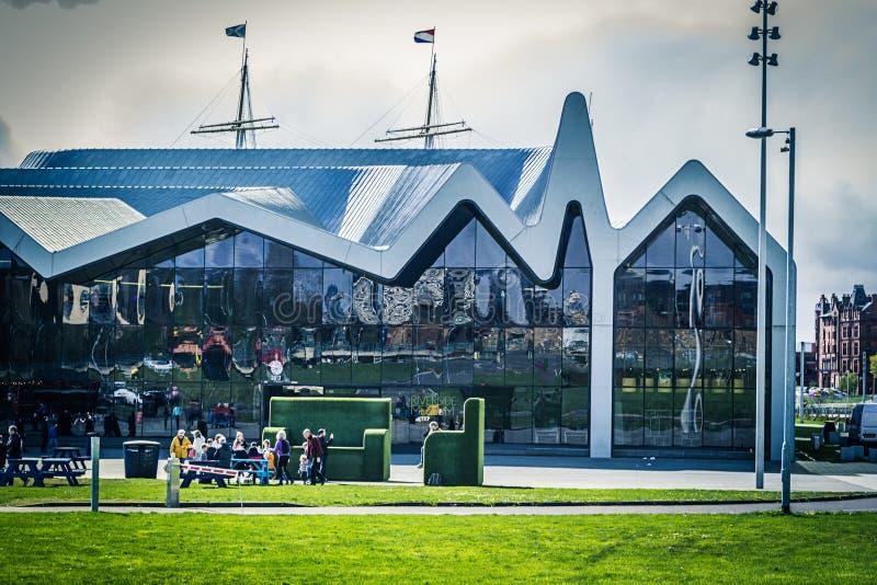 Glasgow, Szkocja Nadrzeczny muzeum, Zjednoczone Królestwo obrazy stock