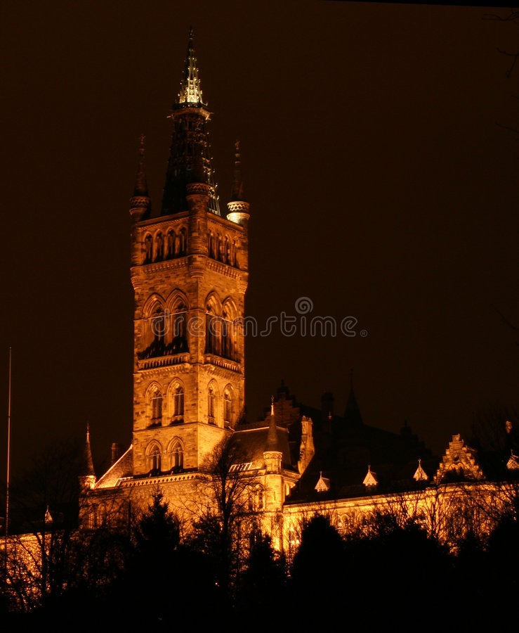 Glasgow-Universität stockfotografie