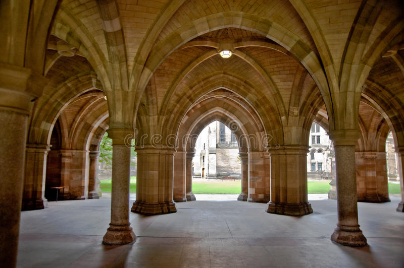 Download Glasgow University stock photo. Image of facade, arches - 13075672