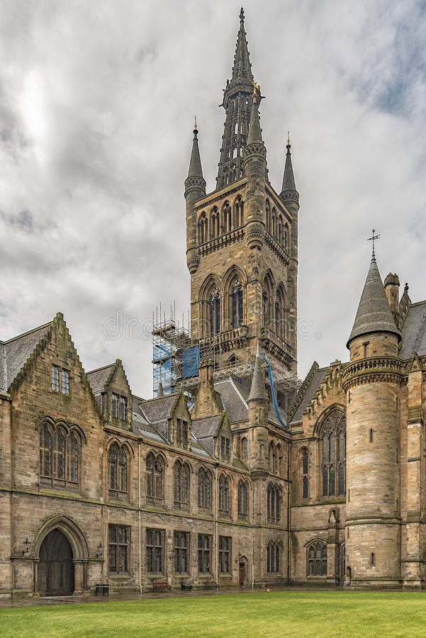 Glasgow University Belltower fotos de stock royalty free