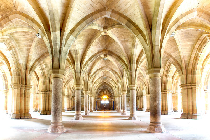 Glasgow University Cloisters imagem de stock royalty free