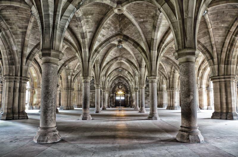 Glasgow uniwersyteta Cloisters fotografia stock
