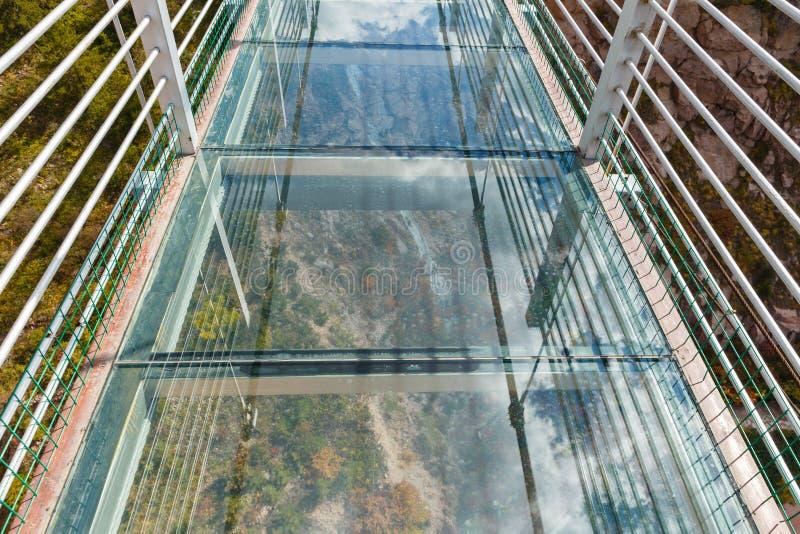 Glashangbrug stock afbeeldingen