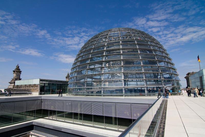 Glashaube des Reichstag lizenzfreies stockfoto
