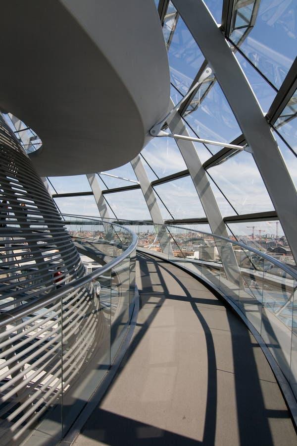Glashaube des Reichstag stockbilder
