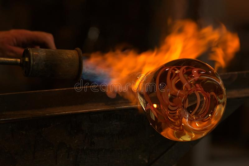 Glashersteller lizenzfreie stockfotografie