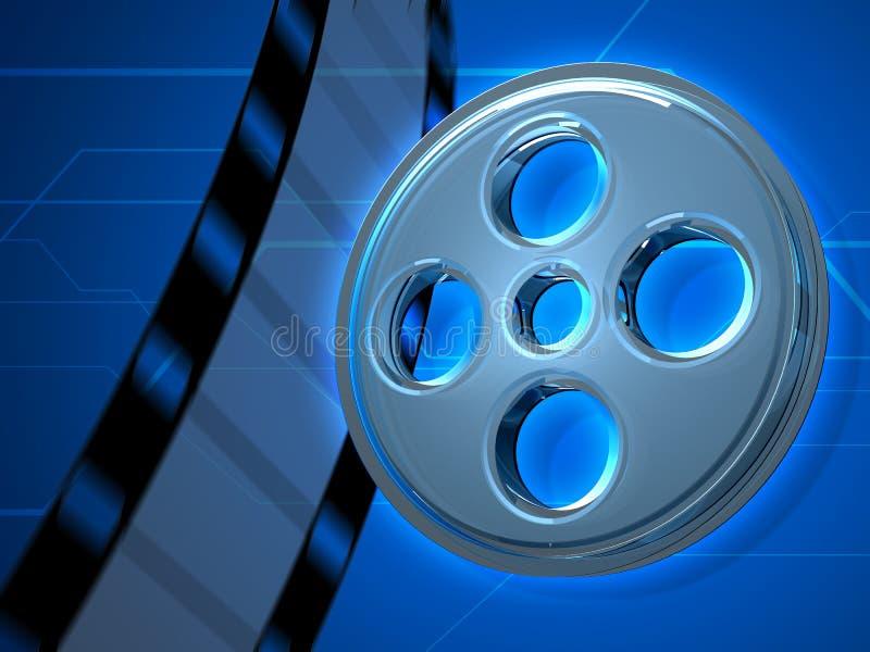 Glashintergrund des film-Band-3D lizenzfreie stockfotos