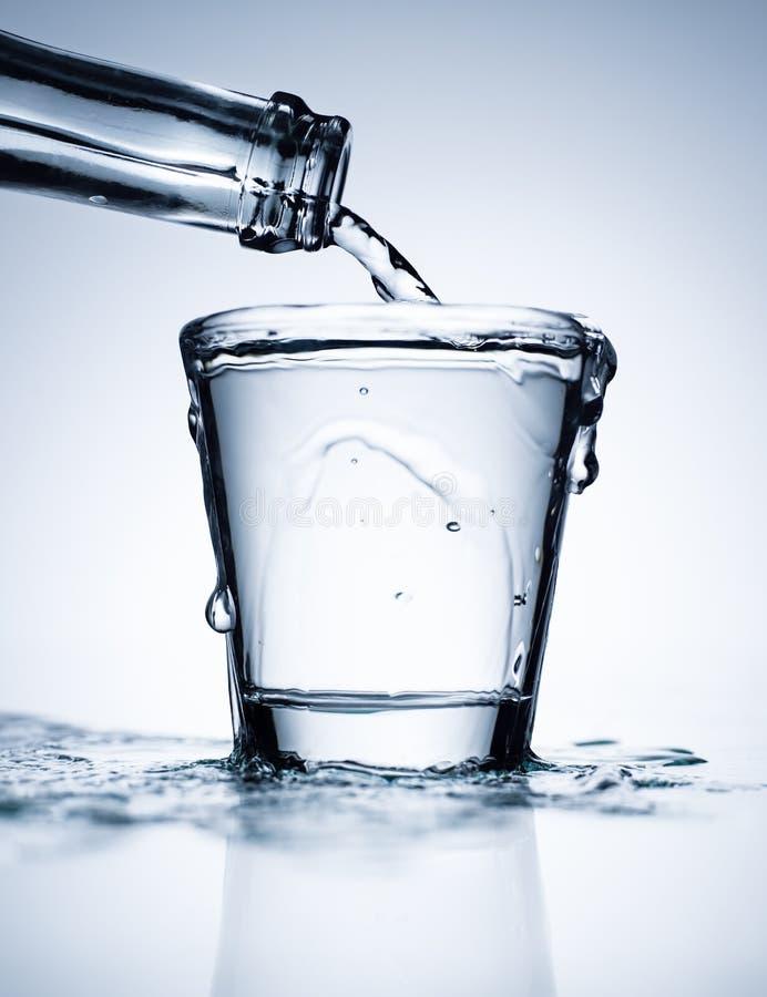 Glashoogtepunt van water stock fotografie