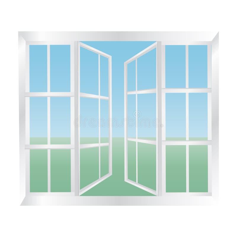 Glasig-glänzende Windows-Ikone vektor abbildung