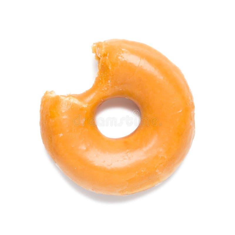Glasig-glänzender Donut auf Weiß lizenzfreie stockfotos