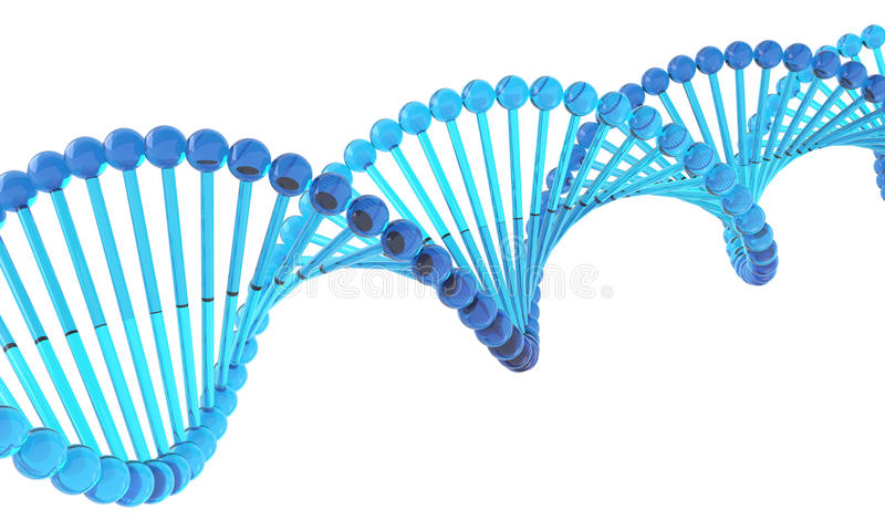 Glasige DNA stock abbildung