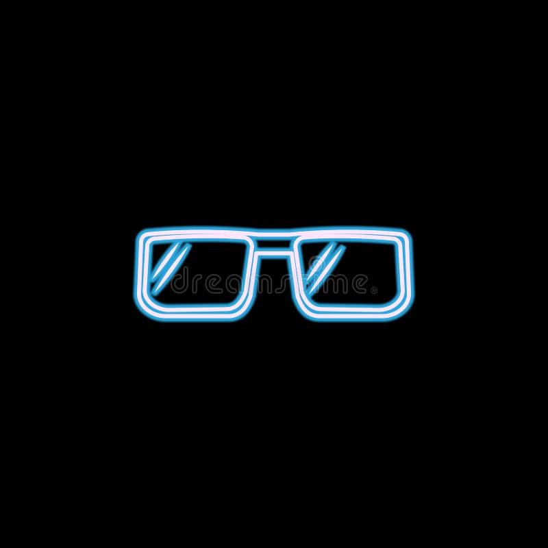 Glasikone des Rappers in der Neonart Ein der Lebensstils-Sammlungsikone kann für UI, UX verwendet werden stock abbildung