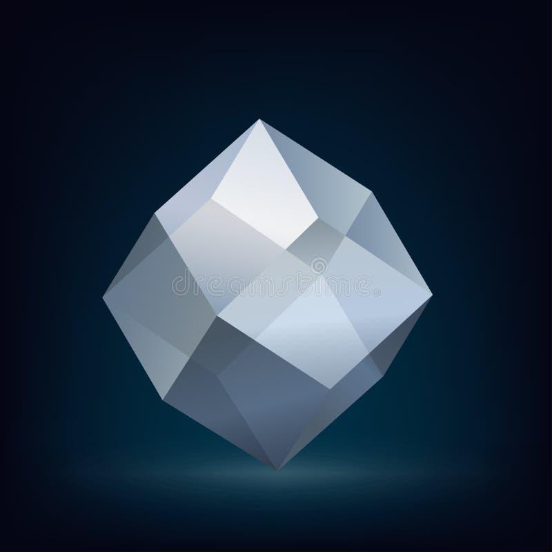 Glaskristall stock abbildung