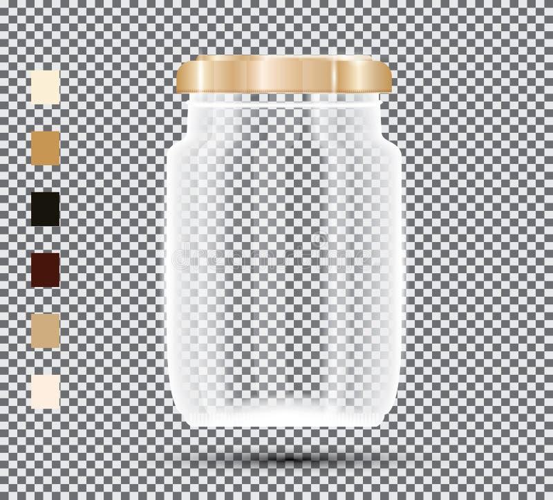 Glaskruik op transparante achtergrond vector illustratie