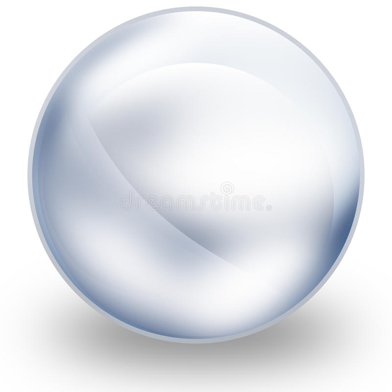 Glaskugel lizenzfreie abbildung