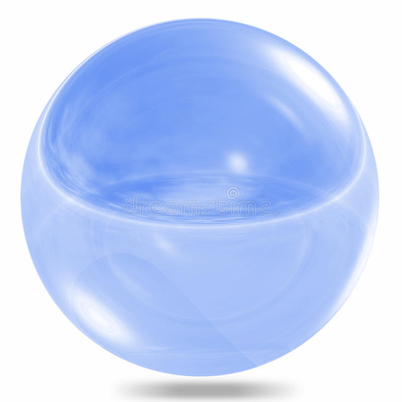 Glaskugel getrennt stock abbildung