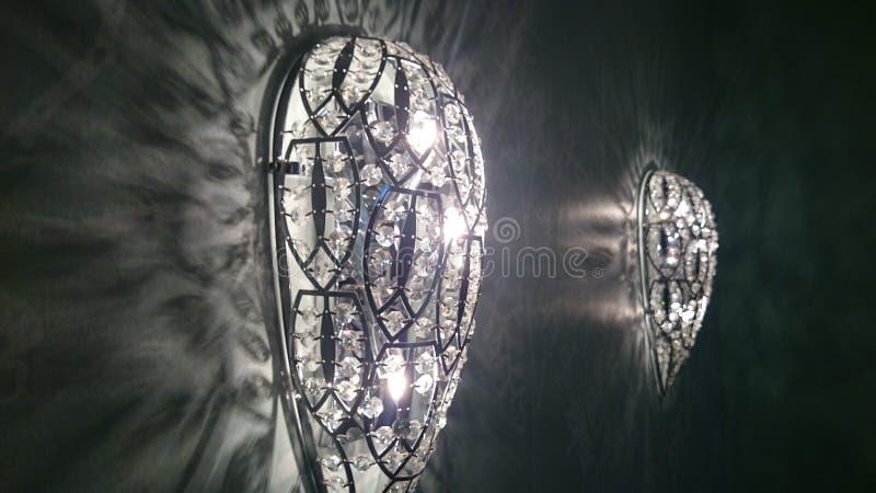 Glaslamp in kroonluchterstijl royalty-vrije stock afbeeldingen