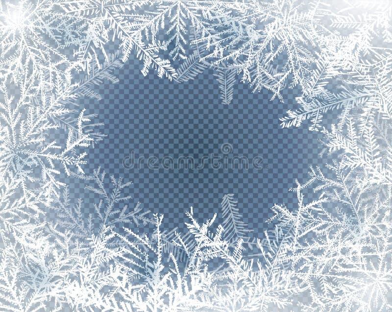 Glasmönster, frost royaltyfri illustrationer