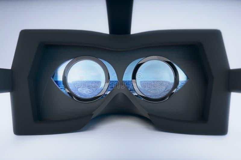 Glasmeer der virtuellen Realität lizenzfreie abbildung