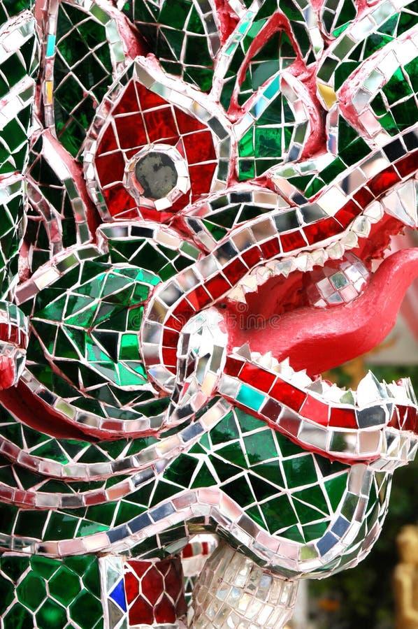 Glasmosaik-Drache lizenzfreie stockbilder