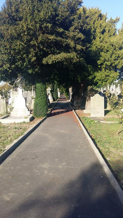 Glasnevin Cemetary - Dublin - R.I.P, path to eternal rest royalty free stock photos