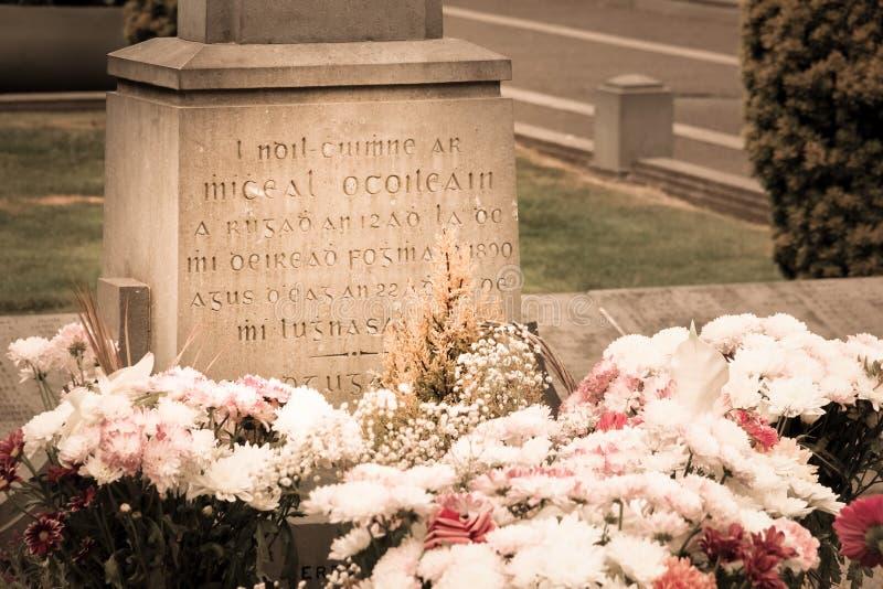 Glasnevin Michael Collins-grafsteen dublin ierland stock afbeeldingen