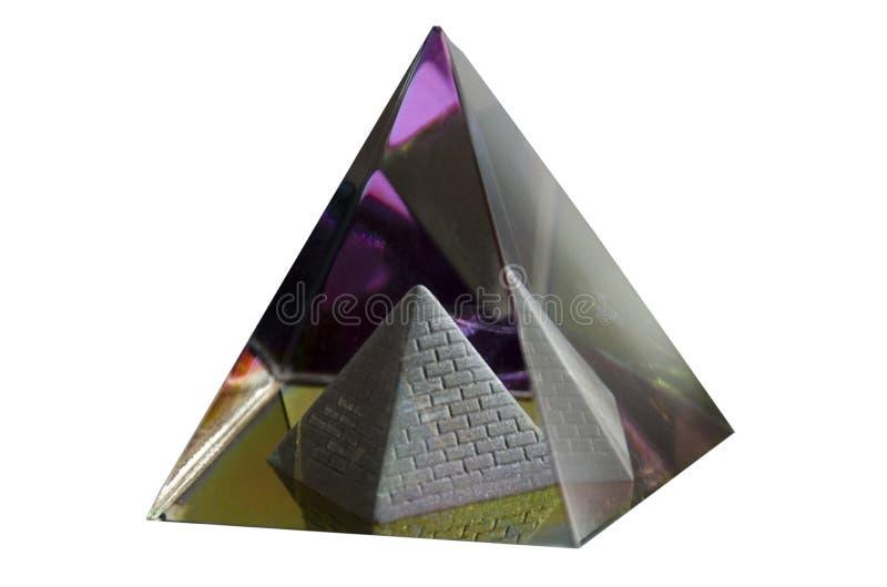 Glaspiramide in een piramide royalty-vrije stock afbeelding